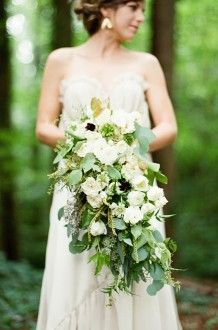 cascading greenery bouquet | Fern Studio Floral and Event Design