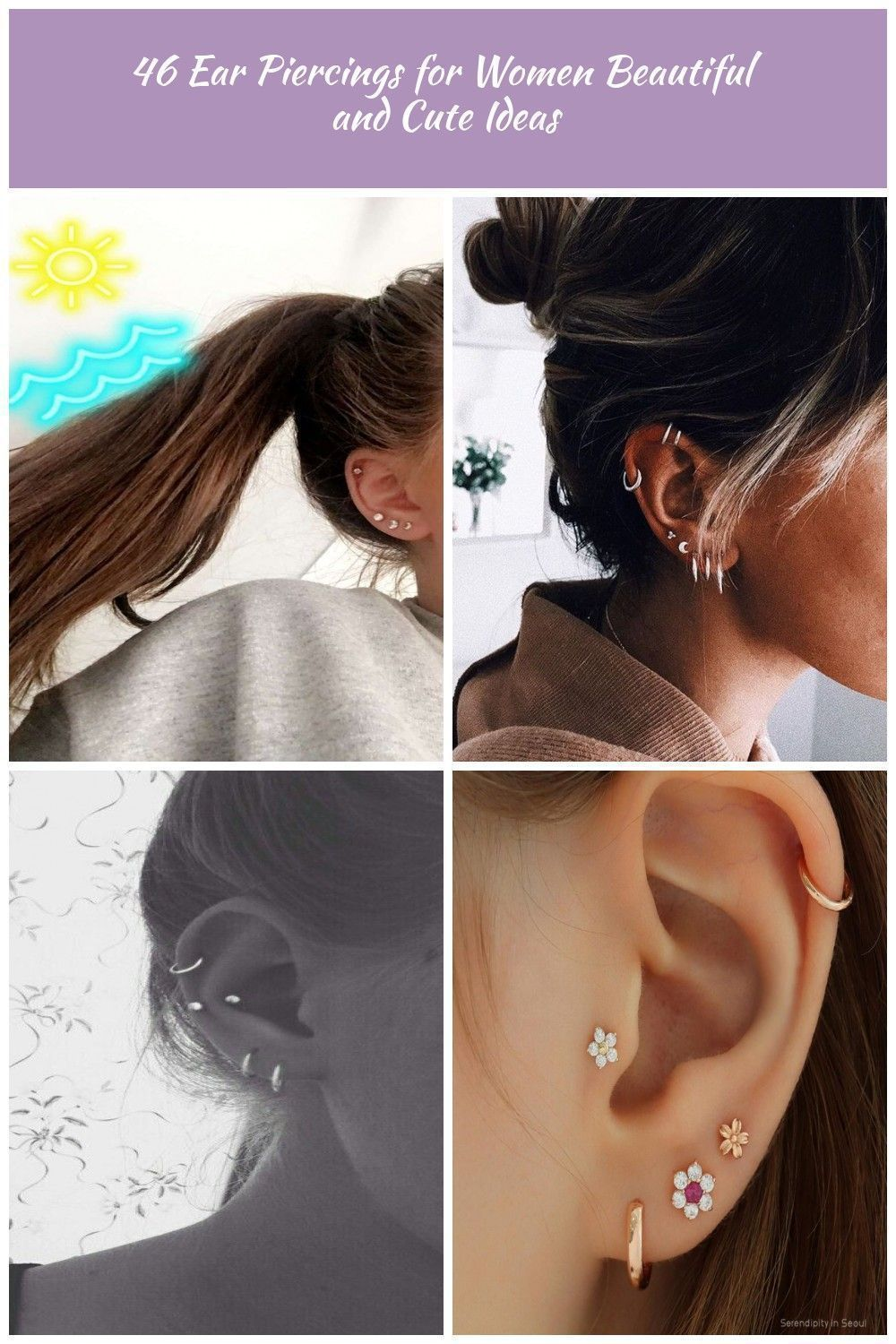 Latest ear piercings for women beautiful and cute ideas, piercings ear daith mig...  Latest ear piercings for women beautiful and cute ideas, piercings ear daith migraine relief, ear p #beautiful #cute #daith #Ear #Ideas #Latest #mig #Piercings #Women #secondearpiercing