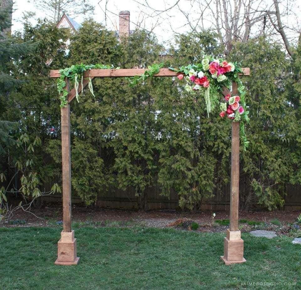 DIY Self Standing Wood Arch Wood arch, Diy backdrop, Diy