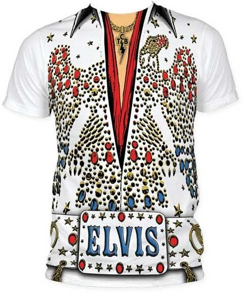 9e3edfb84f1f Elvis Presley Eagle Jumpsuit Rock Gold Costum Licensed Adult T-Shirt Tee  S-2XL