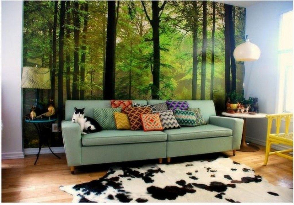 Natural Wall Murals Forest Themed