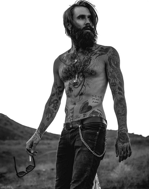 Astounding 1000 Images About Men Style Tattoo Beards Long Hair Art On Pinterest Short Hairstyles For Black Women Fulllsitofus