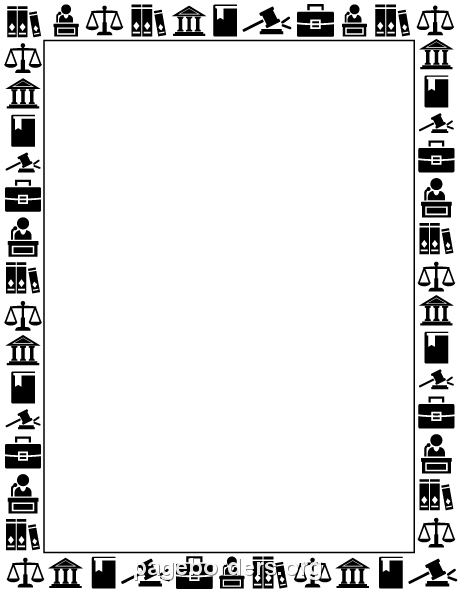 Printable law border featuring legalthemed graphics Use the – Free Page Borders for Microsoft Word