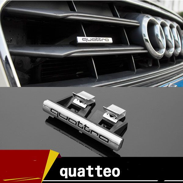 Abs Quattro Car Grille Emblem Car Grille Badge For Audi A3 A4 A5 A6 A7a8 Q3 Q5 Q7