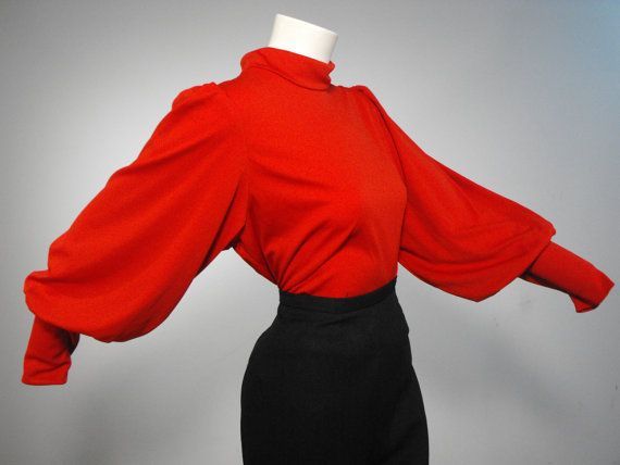 Vintage 1970s 1930s Style DRAMATIQUE Siren Red by RedLabelVintage, $75.00