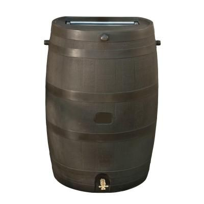 Rts Home Accents 50 Gal Rain Barrel With Brass Spigot 55100009005681 Rain Barrel Rain Barrel Kit Water Barrel