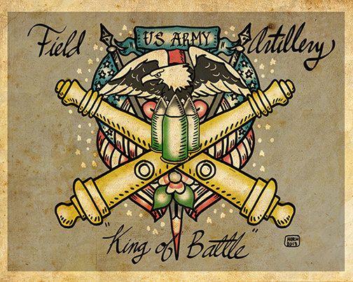 Armee Feld Artillerie Tattoos