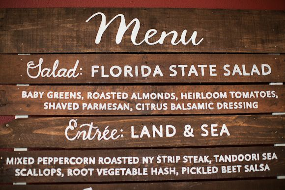 hand painted wood menu sign by Make Merry