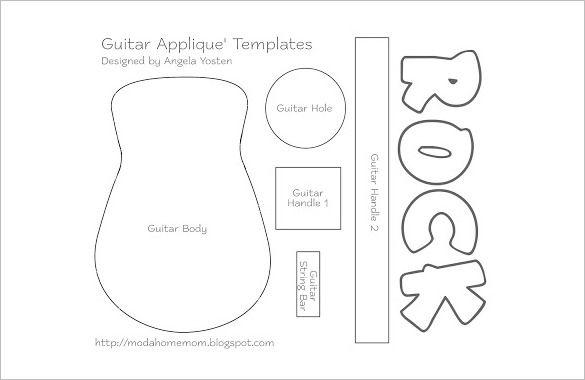 17 Awsome Guitar Cake Templates Designs Templates Applique