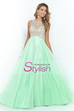 2015 New Arrival  Prom Dresses A Line Scoop Sweep/Brush Chiffon USD 179.99 STPGCSJ34P - StylishPromDress.com