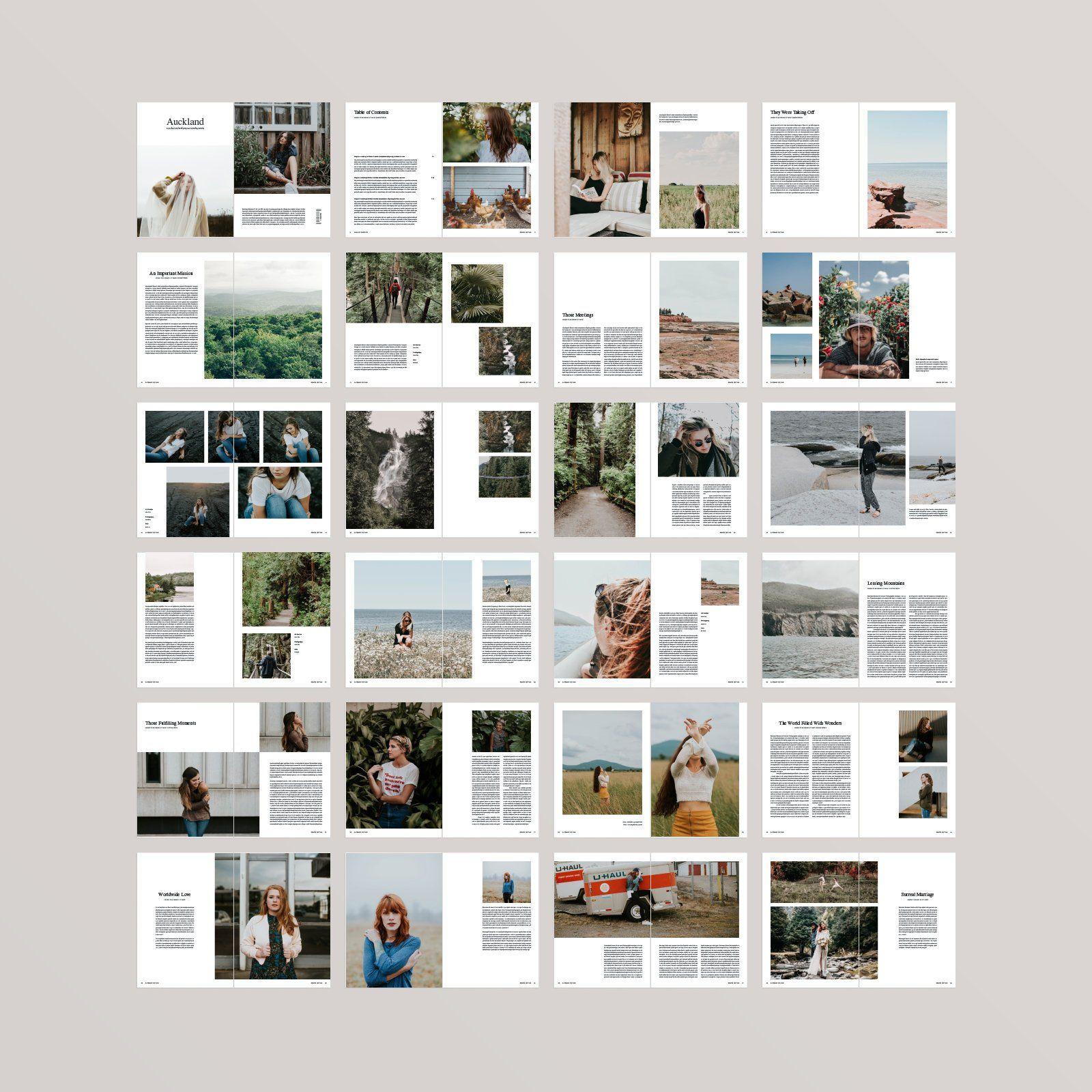 Free Indesign Template Multipurpose Magazine: Auckland Magazine Template InDesign Template Editable
