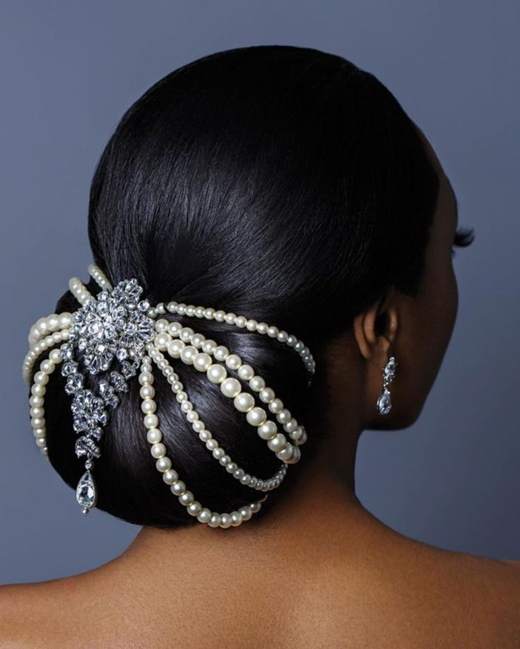 18 Beautiful Wedding Hairstyles Down For Brides And: Beautiful Natural Bridal Hair Style With Headpiece