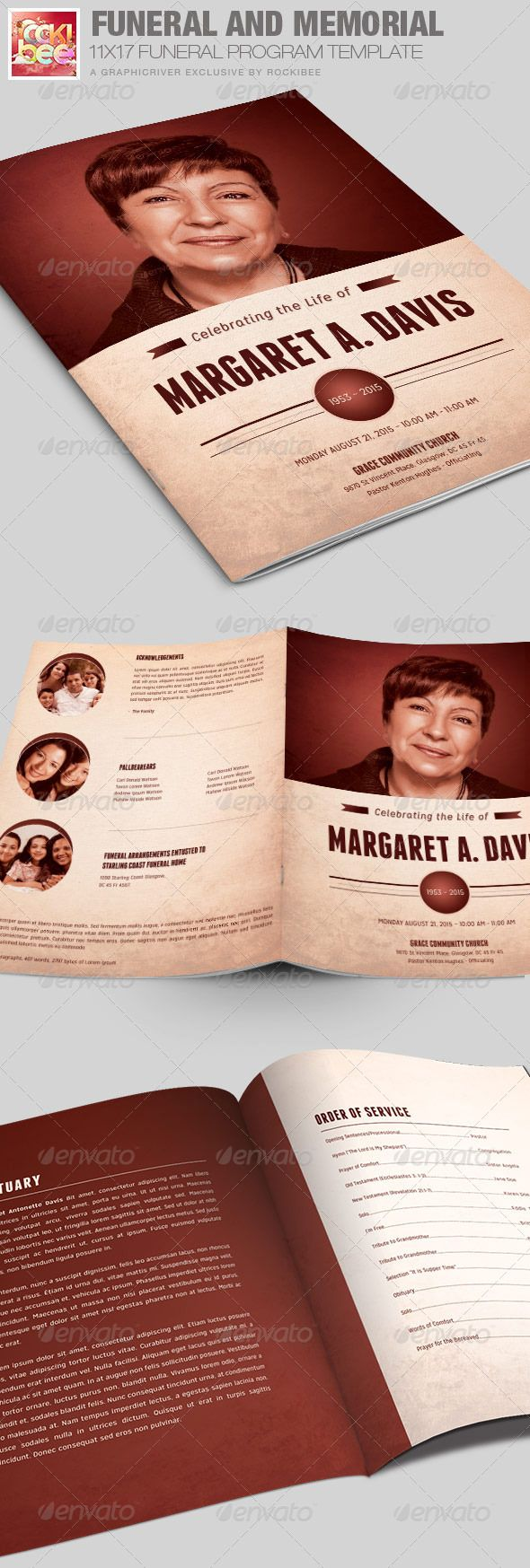Memorial Program Templates Free Funeral And Memorial Program Template  Program Template Funeral .
