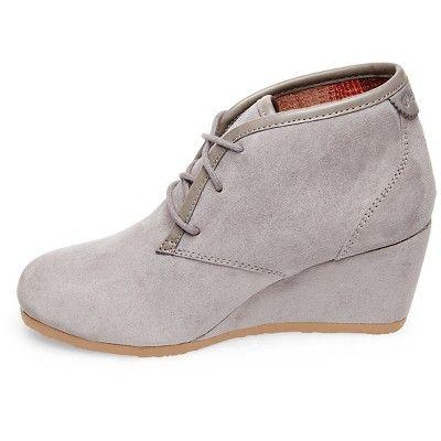 36392f4b389 Women s Mad Love Myrtle Wedge Booties - Gray 6