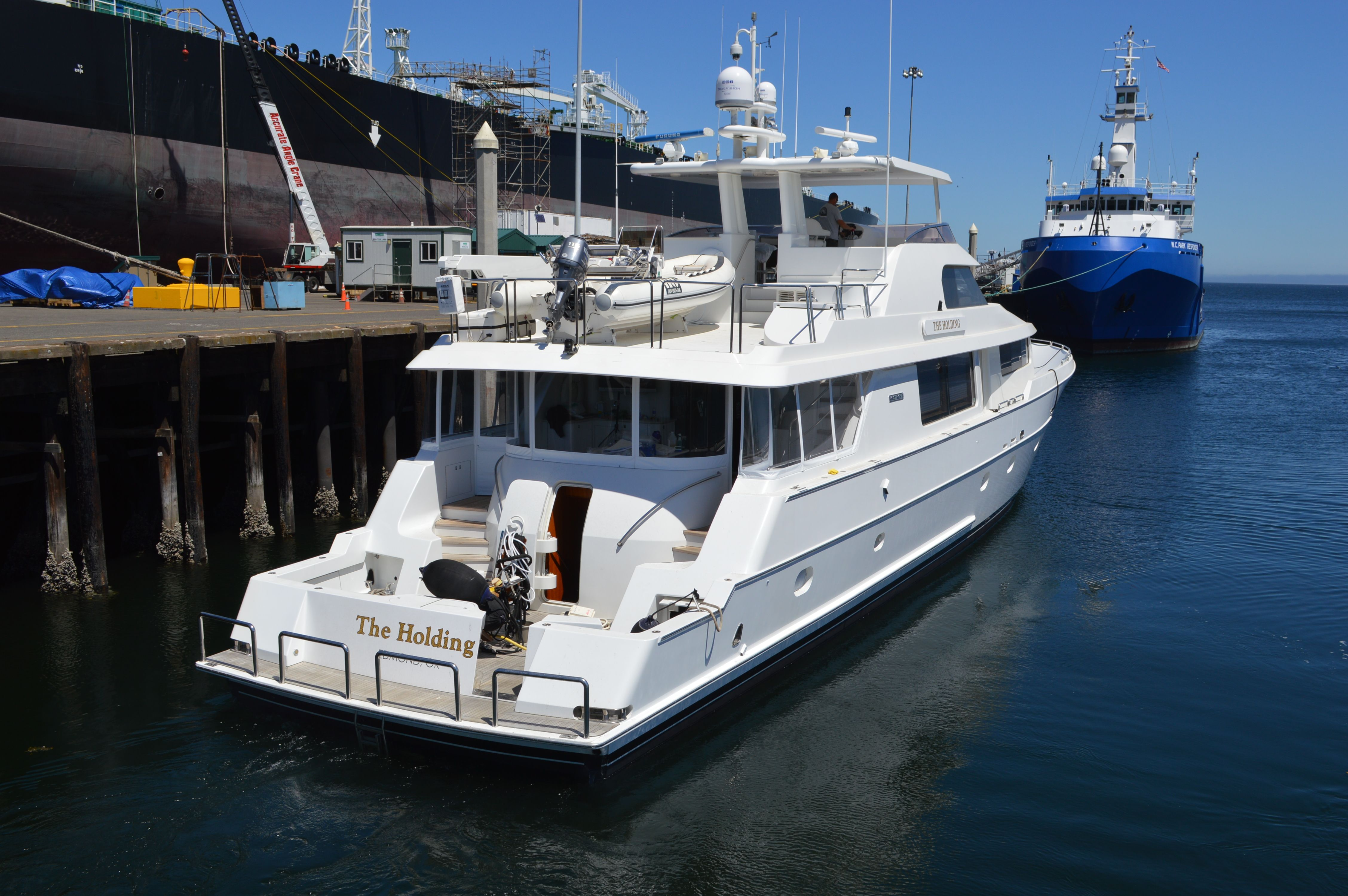 The Holding, a 106' Westport Yacht, based out of Seattle