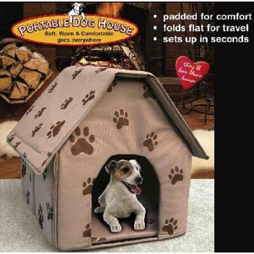 Portable Dog House Color Random Among In Tan Blue And Red Jsny
