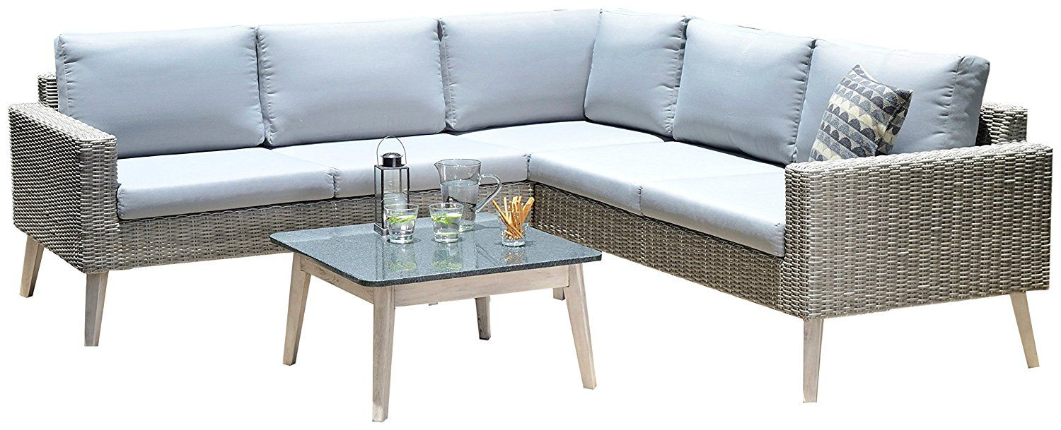 Backyard Furniture Copenhagen Five Seater Modern Rattan