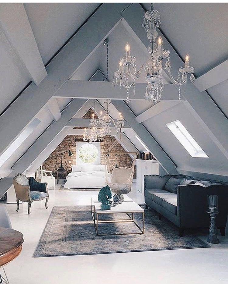 Converted Attic Living Room #posh