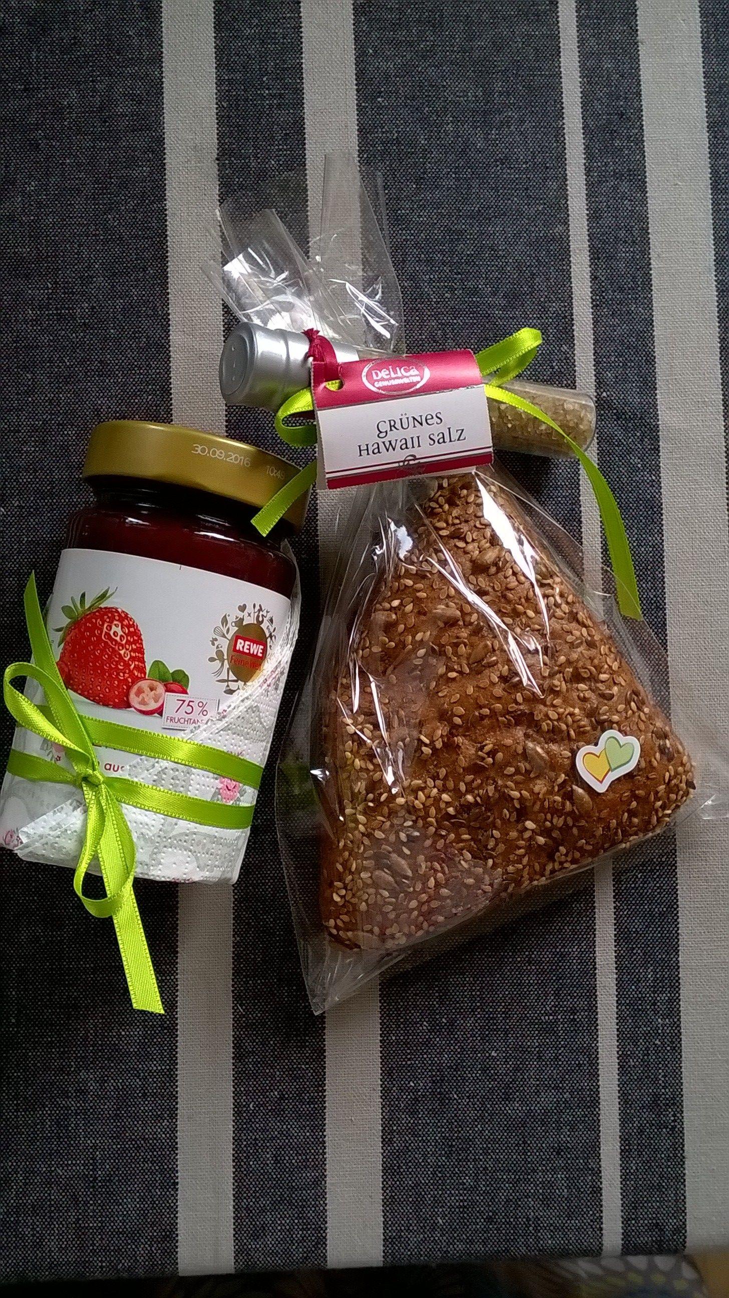 Brot & Salz zum Einzug schön verpackt Geburtstag