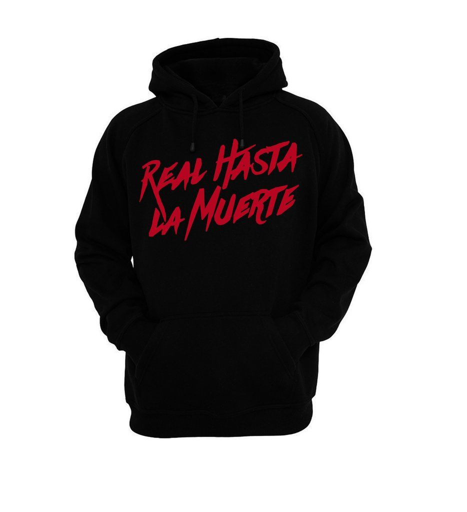 wholesale dealer bbc24 84c17 Black Real Hasta La Muerte Hoodie Black Hoodie, Gucci, Adidas, Pullover,  Jackets