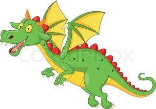 Cute Dragon Cartoon Flying Birthday Party Ideas Pinterest Animaux