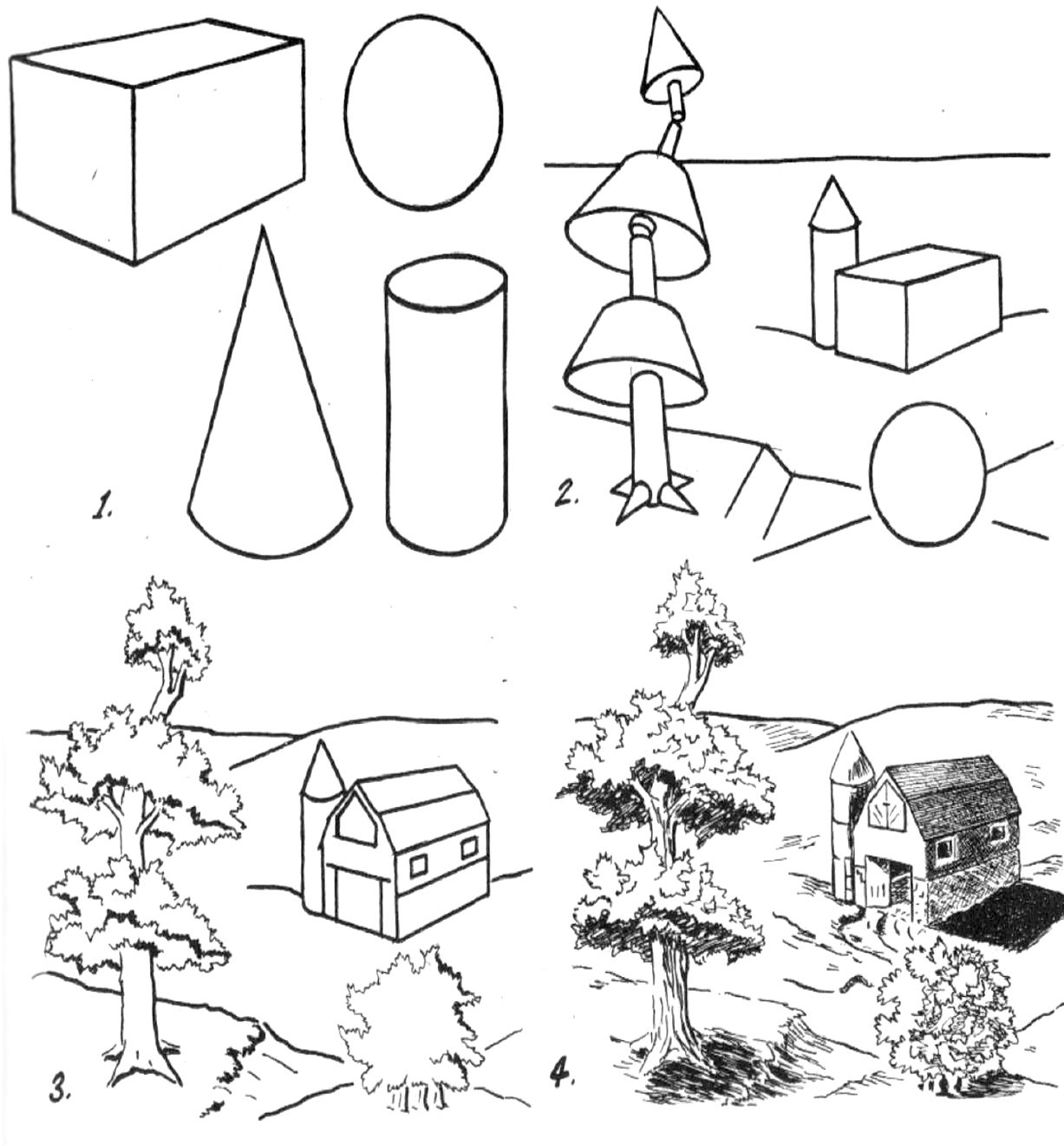 How to Draw What You See by Drawing Basic Shapes First