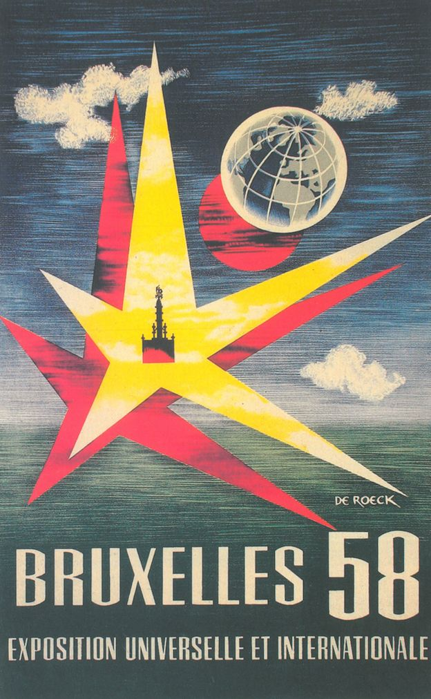 1930/'s Belgian Aviation Show Poster A3//A4 Print