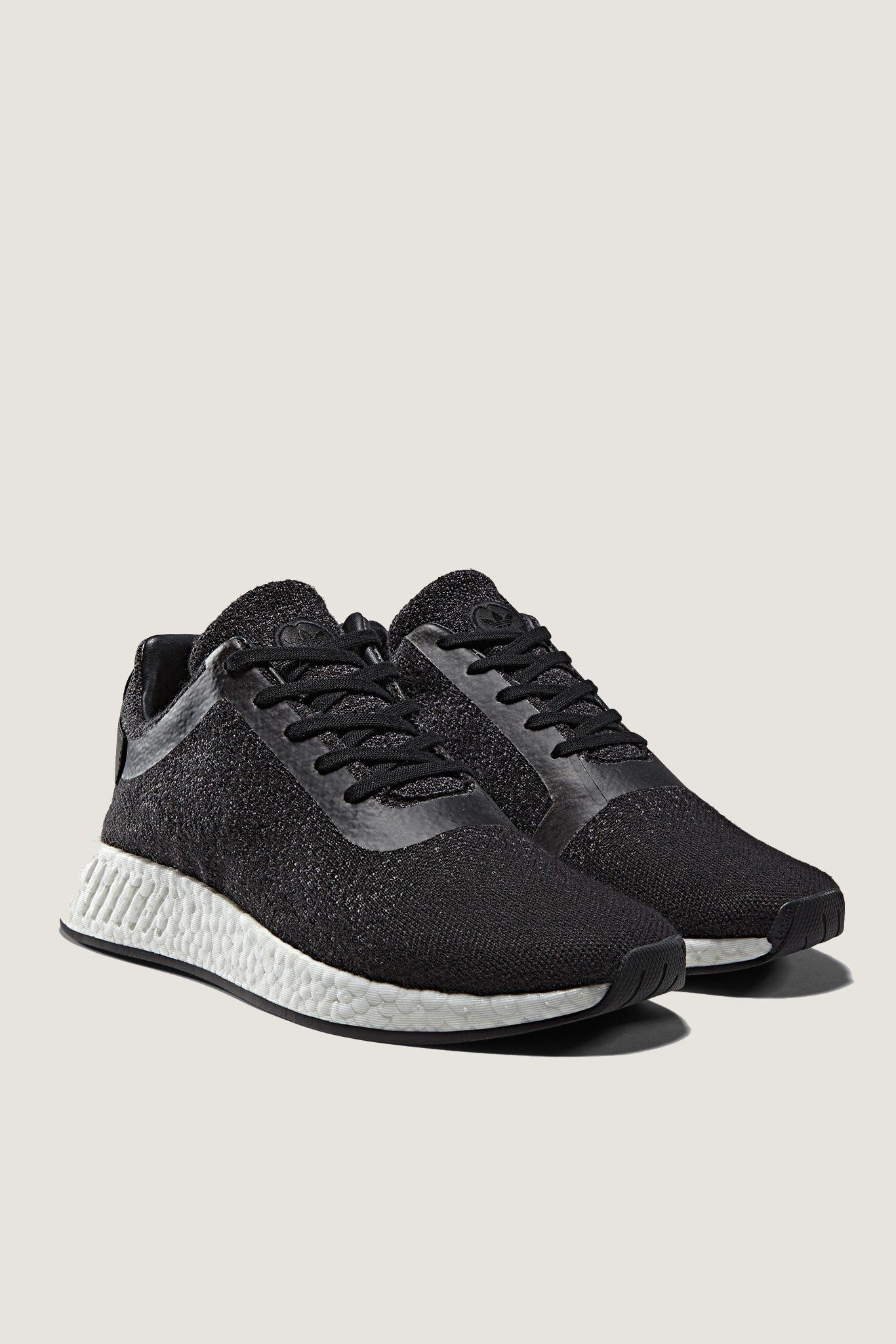 new product a7341 4fe9d Adidas X Wings + Horns Primeknit NMD R2 - Black | menswear ...