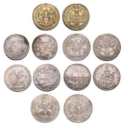 Peter Rapp AG - Internationale Briefmarkenauktionen - Spitzenergebnisse 2014 /     Schweiz. Aus einem hochwertiger Bestand alter Münzen aus Zürich und Zug. Verkaufspreis*: CHF 31'720.–