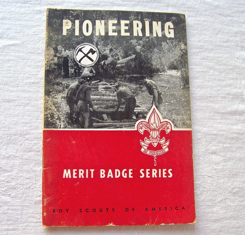 Boy Scout Pioneering Booklet Merit Badge Series