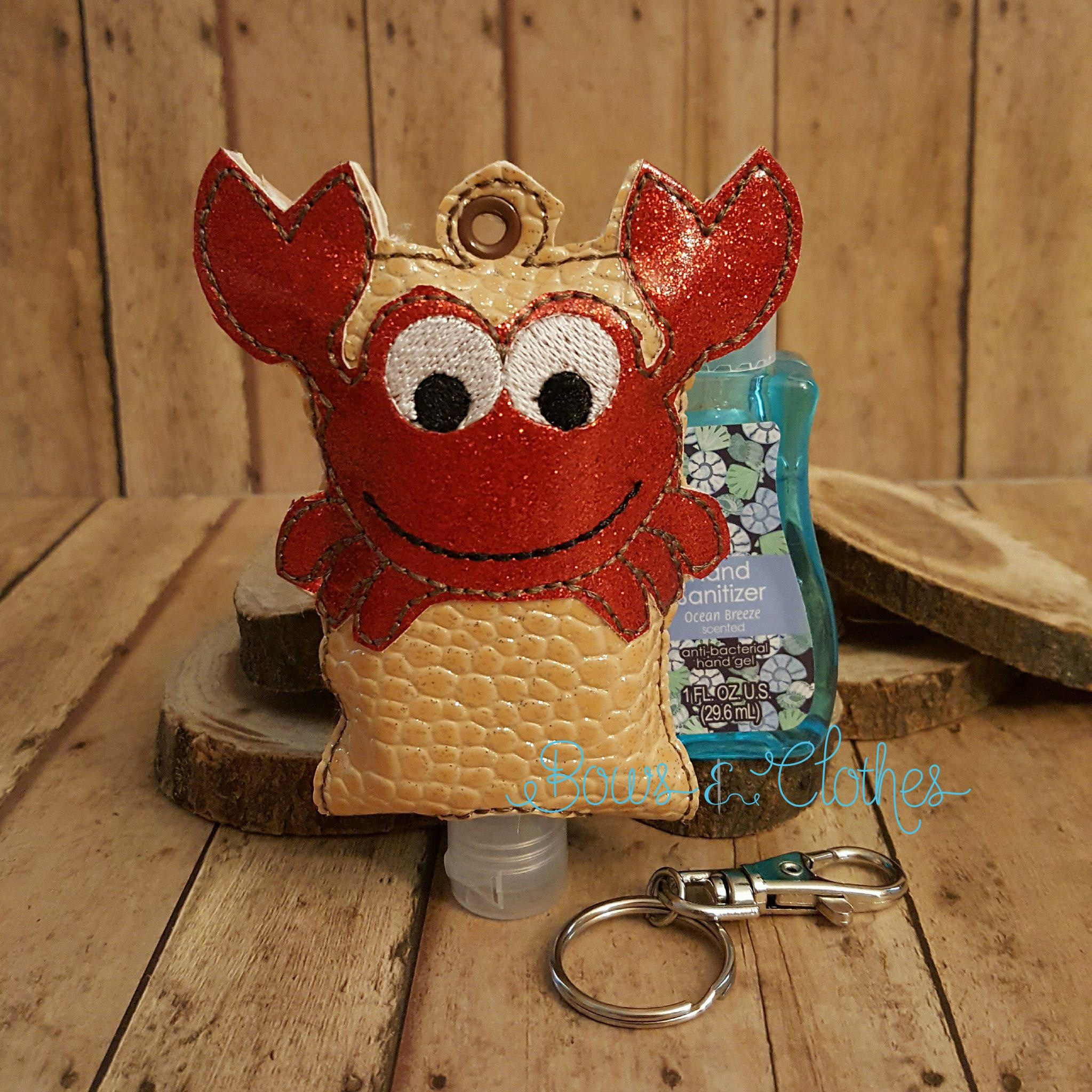 Crab Open Tab Hand Sanitizer Hand Sanitizer Embroidery Designs