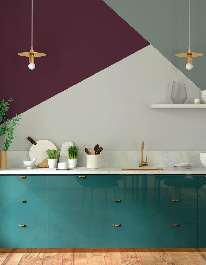 Le violet prend le pouvoir en déco ! | KITCHEN | Deco peinture salon ...