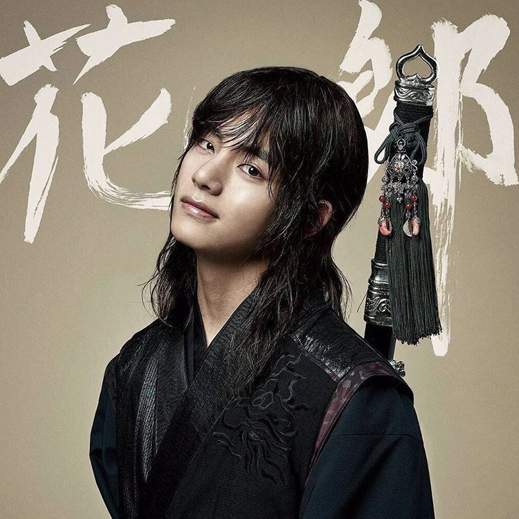 (BTS V - Hwarang: The beginning) Look who do we have here!!! Do you like Tae in long hair?