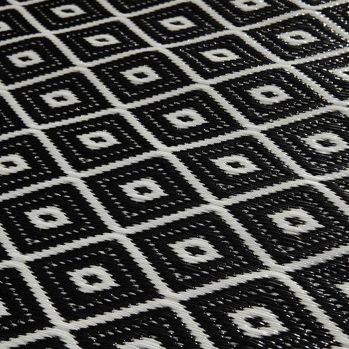 Tapis D Exterieur En Polypropylene Noir Blanc 120x180 Tapis Exterieur Tapis Dalle Moquette