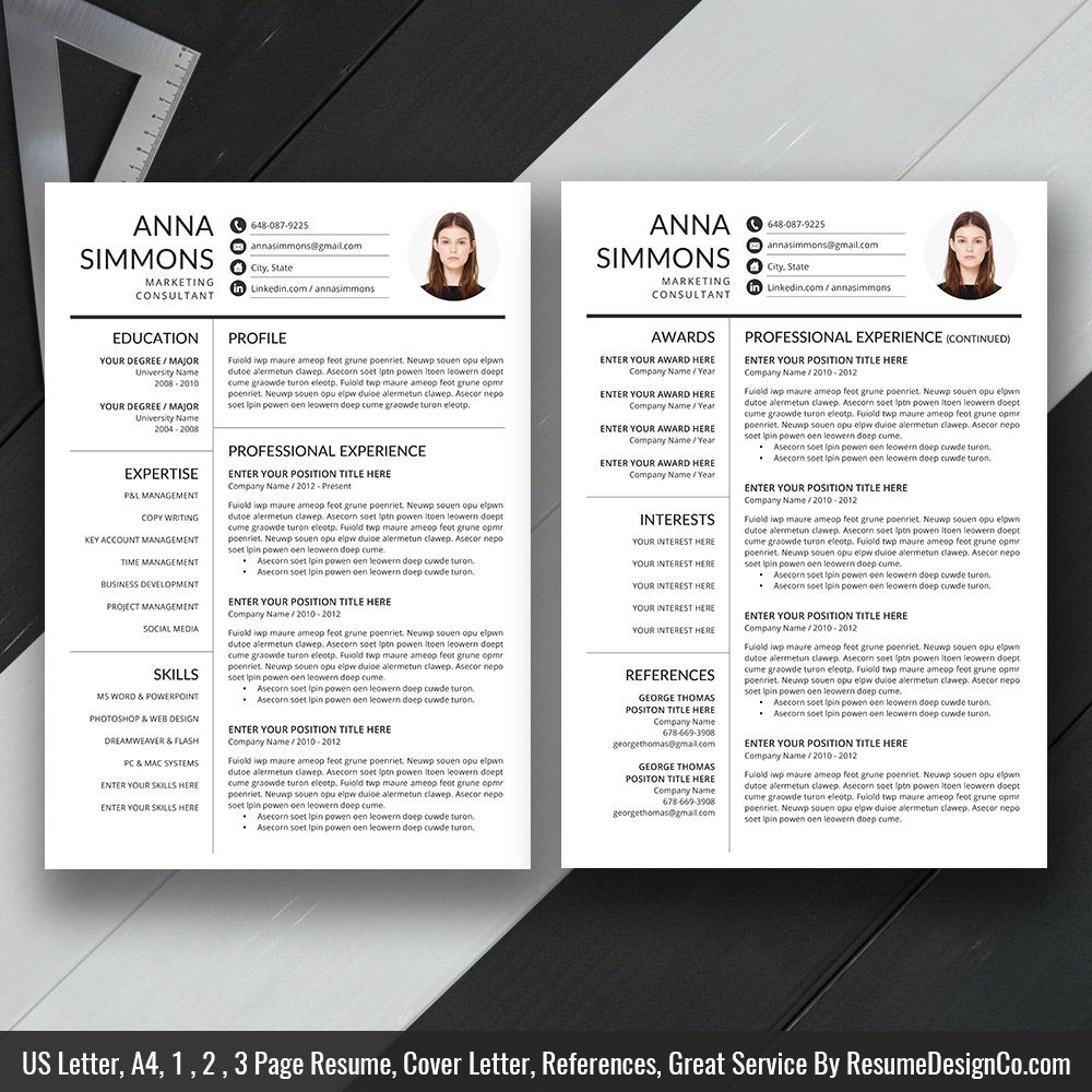 Professional Resume Template Ms Word Simple And Modern Resume