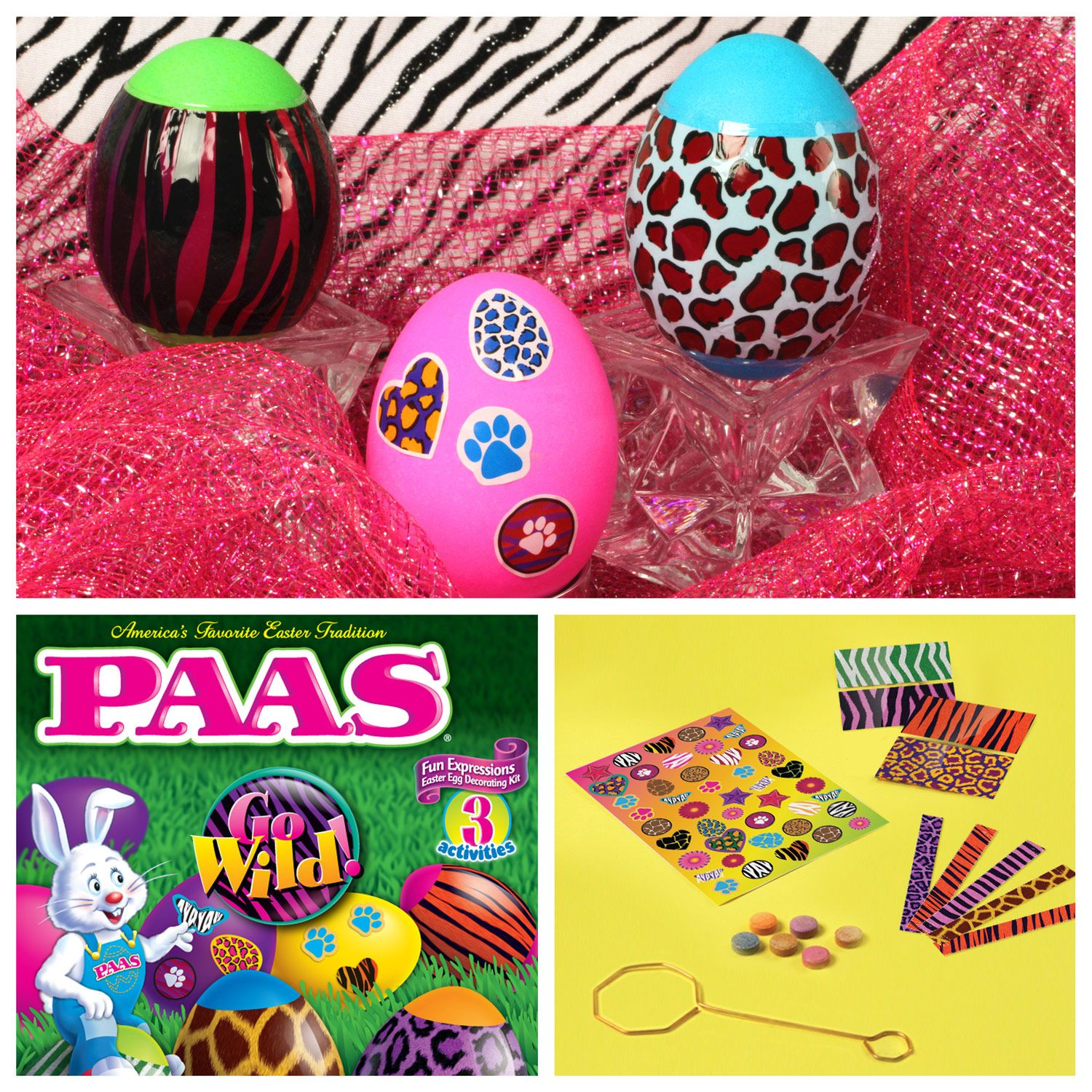 Go WILD with this kit from PAAS. Diy easter decorations