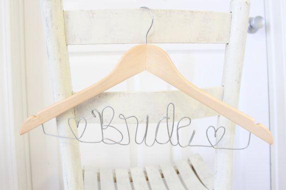 Personalized Custom Bridal Hanger Brides Hanger by SunbirdWay