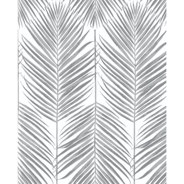 Nextwall Paradise Palm Daydream Grey Vinyl Strippable Roll Covers 30 75 Sq Ft Nw33008 The Home Depot Peel And Stick Wallpaper Fern Wallpaper Vinyl Wall Covering