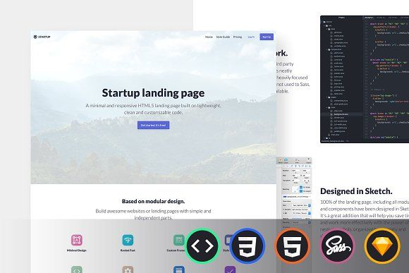 Emanate HTML Template | Landing page, Templates, Start up