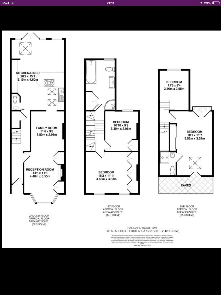 attic conversions plans ideas - Victorian terrace with loft and and back extension Floor