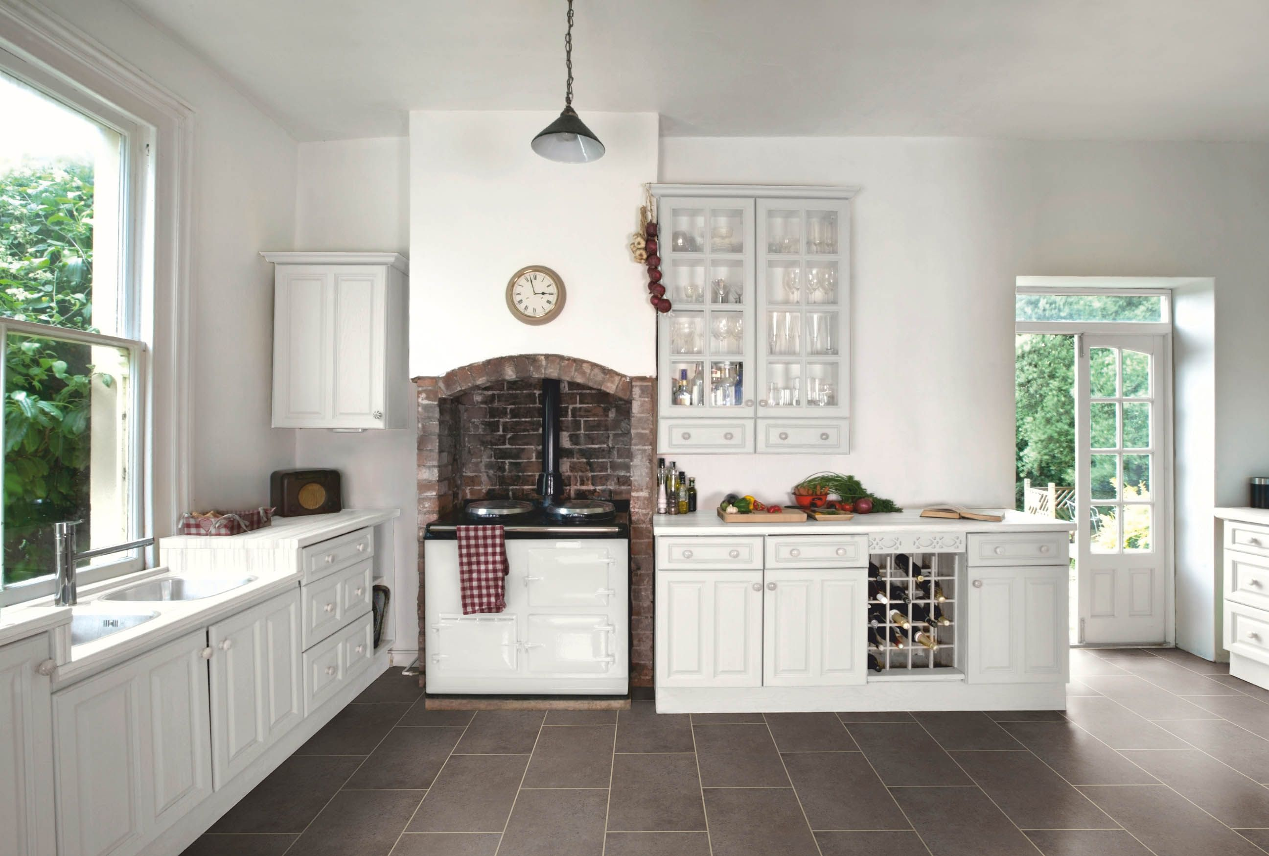 Amtico Spacia Ceramic Sable PVC grindų danga. #kitchens #interior ...