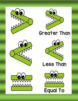 Greater Than Less Than Equal To Clip Art Math Activities Preschool Math Learning Math