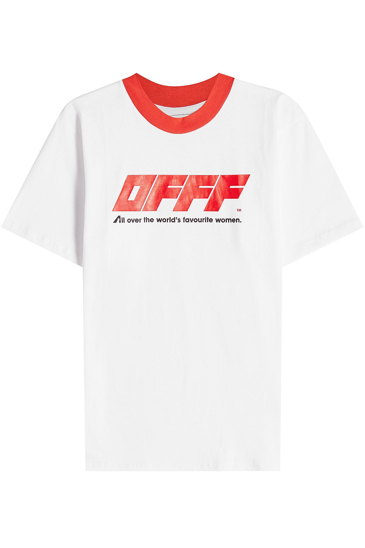 Off New White Red Cotton Jersey T Shirt Mens Tops T Shirt Off