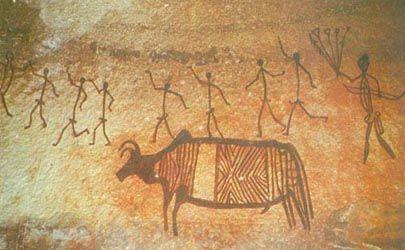 Prehistoric Art (Virtual Museum). Mesolithic. India.