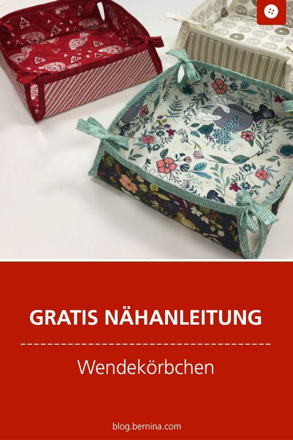 Photo of Anleitung für stapelbare Wendekörbe aus fetten Vierteln »BERNINA Blog