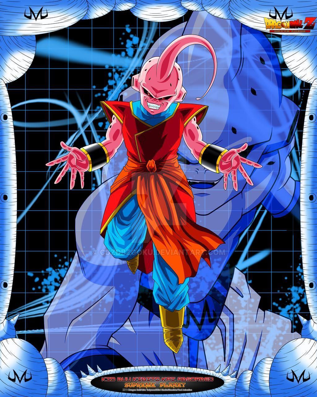 Dbz Kid Buu Absorbed Kibito Kai By Cdzdbzgoku On Deviantart Pictures To Draw Dbz Dragon Ball