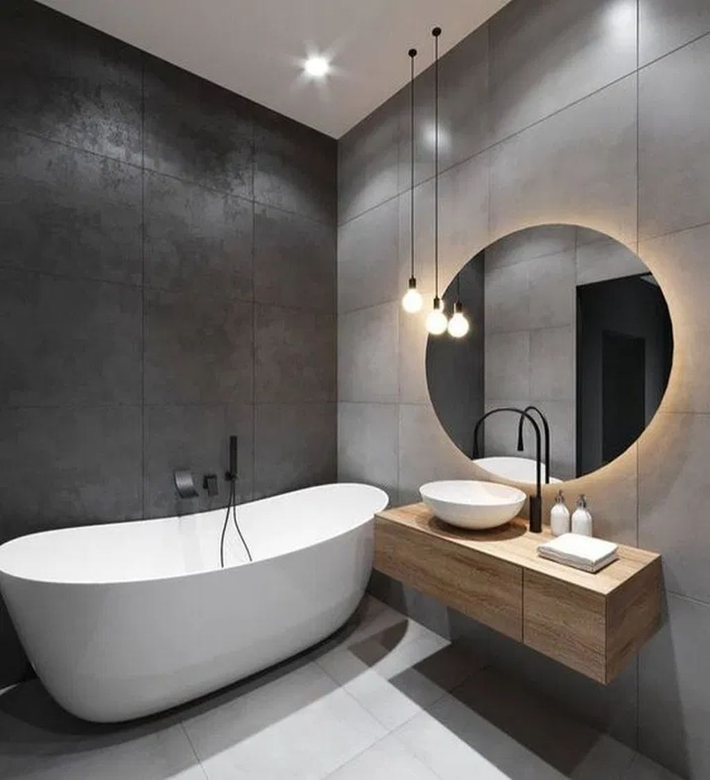 40 Comfy Bathroom Design Ideas For Home In 2020 Small Bathroom Makeover Modern Bathroom Design Modern Bathroom