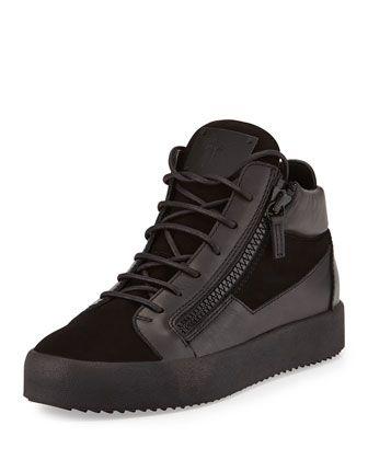 c83bfecaedf2b Men  s Leather Mid-Top Sneaker