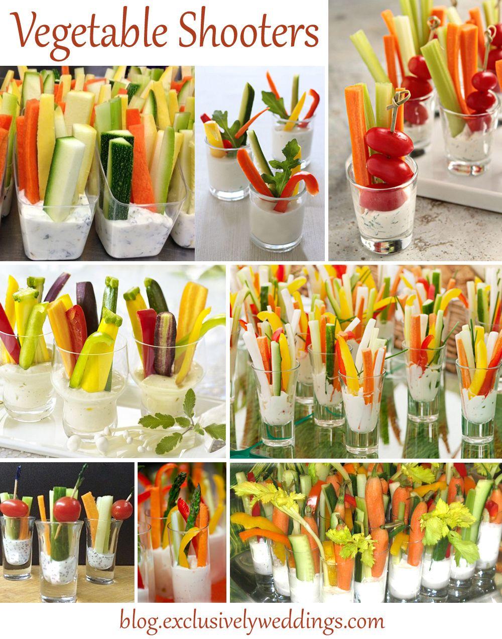 vegetable shooters party foods pinterest essen festessen und rezepte. Black Bedroom Furniture Sets. Home Design Ideas