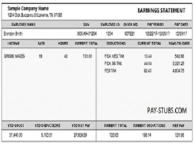 Understanding Sample Pay Stub Payroll Checks Paying Understanding